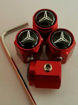 MERCEDES BENZ Car Wheel Tyre Valve Dust Caps Covers FIT ALL MODELS ANTI THEFT