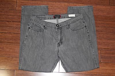 Men's Guess REGULAR STRAIGHT Crescent Fit  Grey Jeans Size W34 L30