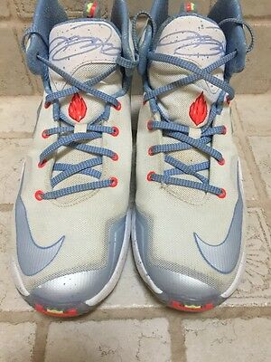 f5ca294129a Pre Owned NIKE LEBRON XIII 13 GS Christmas Sneakers 824502-144 Size 6.5Y