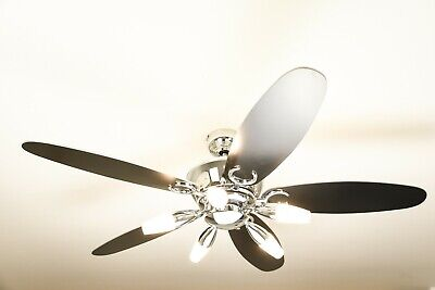 """Westinghouse Ceiling Fan ARIUS chrome 132 cm / 52"""" with light and remote control"""