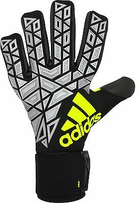 NEW Goalkeeper Gloves: Adidas Ace Trans Pro NC (black) black/Silver met./So - 10
