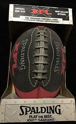 Rare XFL Spalding Official Mini Size Extreme Football League Football