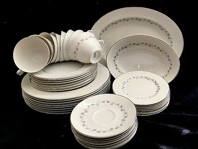 Lot of 45 Royal Doulton English Translucent China Cadence Dinner Set T.C. 1007