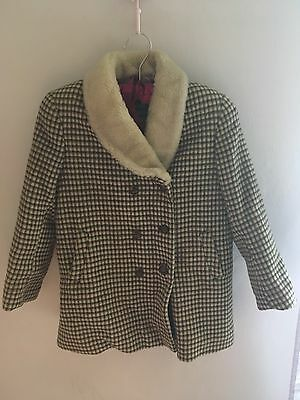 Beau Brummel Tweed child's vintage wool coat.