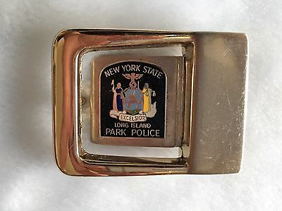 NEW YORK State Long Island Park POLICE Belt Buckle