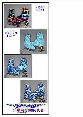 Ice Skating / Roller Skating Lycra Print Boot Covers Medium Only