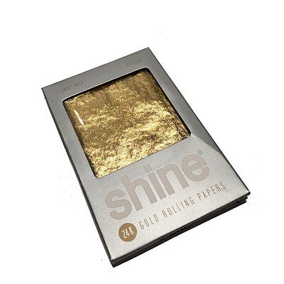 NEW Shine 2 Sheet Pack 24K 24 Karat Gold Rolling Papers CANADA SHIPPED