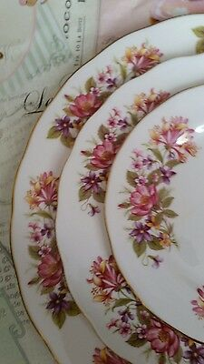Vintage Colclough bone china Wayside Honeysuckle three tier cake stand vgc