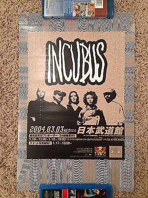 Incubus A Crow Left of the Murder Japan Tour Poster 11 x 17