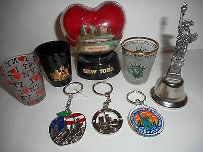 NEW YORK CITY LOT Vintage Kitschy Snowglobe-Hong Kong, Statue of Liberty Bell