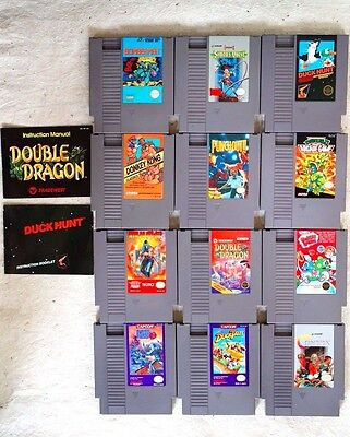 Lot of 12 Nintendo NES Video Games - Awesome Collection ~Contra, Mega Man & More