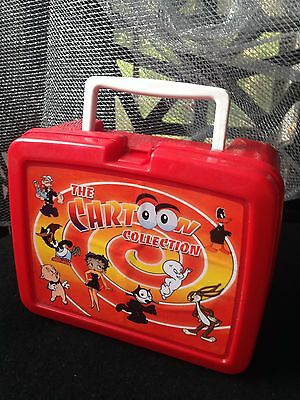 Vintage Plastic Cartoon Collection Lunch Box- Made in UK