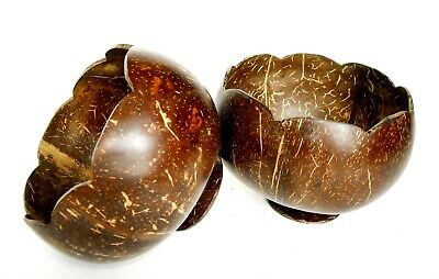 100 % Natural Coconut Shell COCO BOWL Handmade Carved Polished Coconut Shell