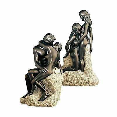 Art Deco Rodin Masterpiece Collection Of Two Statues The Kiss And Ashore