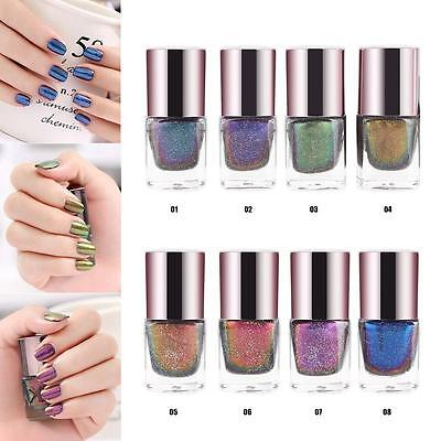 Holographic Chameleon Glitter Nail Varnish Long Lasting Gel Manicure Nail Polish