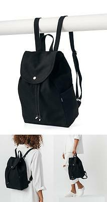 Women's Canvas Backpack Daily Fashion Bag School College Travel Rucksack Black