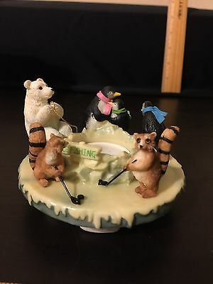 Ice Skating Animals Candle Capper