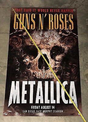 Metallica band cd concert banner Guns & Roses poster skull t shirt rock guitar 6