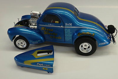 ACME 1:18 1941 Willys STONE WOODS & COOK A/GS Gasser w/STRIPE *EXTRA RARE*