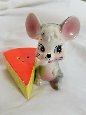 Vintage Mouse And Cheese salt and pepper shaker set