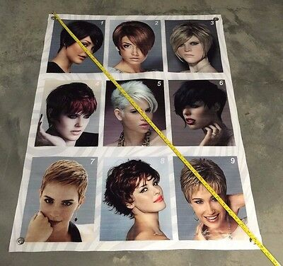Haircut women poster hair salon equipment banner barber kit color clipper kit 1