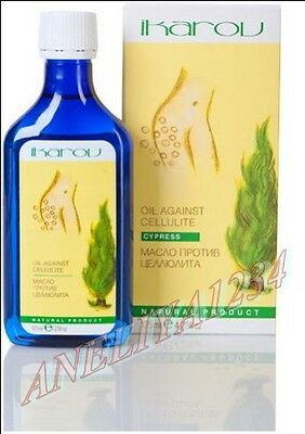 Cypress Massage Oil Anti - cellulite treatment IKAROV 125ML FREE UK DELIVERY