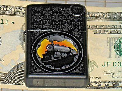 NEW ZIPPO Windproof USA Lighter Special Edition Locomotive Steam Engine Train Bk
