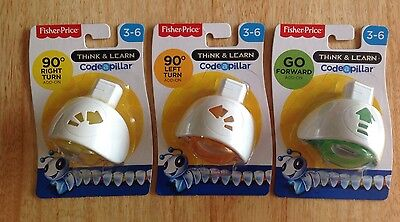Fisher-Price Code-a-pillar Add-ons x3 Go Forward, 90 Degree Left And Right Turn