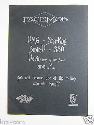 Facemob—1996 Promotional Card