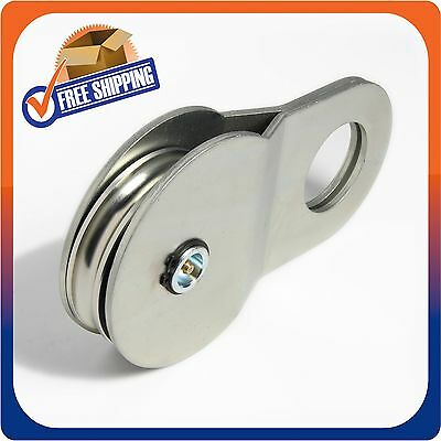 18000 Lbs 8 Ton Nickel Recovery Winch Pulley Snatch Block Off Road Atv Utv Suv