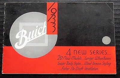Original 1933 Buick  50-60-80-90 Wind-Stream Series Brochure ~ 16 Pages ~ Bw33