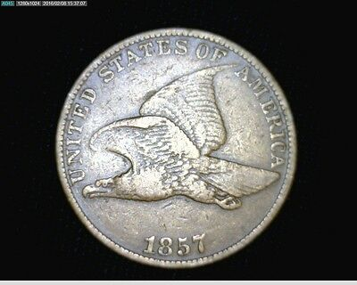 1857 Flying Eagle Small Cent Penny #1811