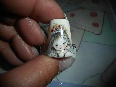 Collectible Thimble Monday's Child is Fair of Face