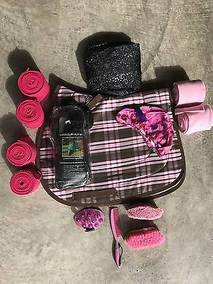 Total Pony Package with Saddle Pad, Brushes, Sleezy, Fly Mask, and Polos