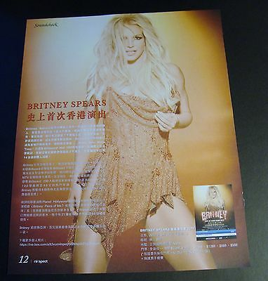 Britney Spears Live in Hong Kong 2017 magazine clipping mini poster