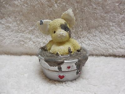 """'95 Enesco This Little Piggy """"Squish You Were Here"""" Figurine"""
