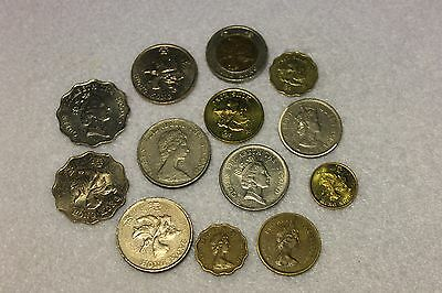 set of 13 different Hong Kong coins