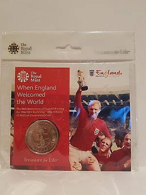 The 1966 FIFA World Cup England 2016 Alderney £5 Brilliant Uncirculated Coin