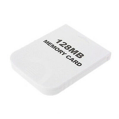128MB Memory Card for Nintendo Wii Gamecube GC Game White O3P5