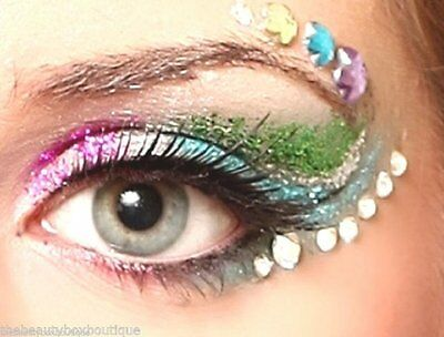 Eye Gem Kit - 500 Mixed Sized Rhinestones +10Ml Cosmetic Body Glue Facepainting