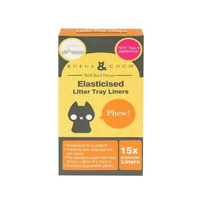 Rufus And Coco Elasticised Litter Tray Liners Standard - 15 pack