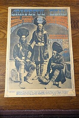 Grateful Dead / Quicksilver Poster Avalon Ballroom FD-54-1 Poster Rick Griffin