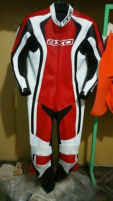 AXO Motorcycle Leather Suit Motorbike Leather Suit Racing Riding Suit 1pc 2pc