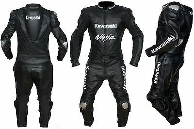 Kawasaki Ninja Motorcycle Leather Suit Motorbike Leather Suit Riding Suit