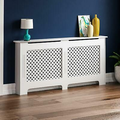 OXFORD RADIATOR COVER Extra Large White MDF Traditional Grill Guard Cover Shelf
