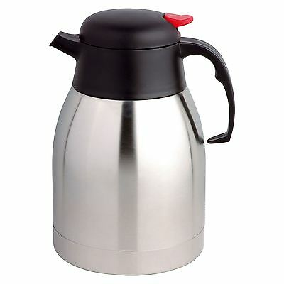 Stainless Steel 2 Litre Insulated Hot & Cold Drink Tea Coffee Vacuum Jug Flask