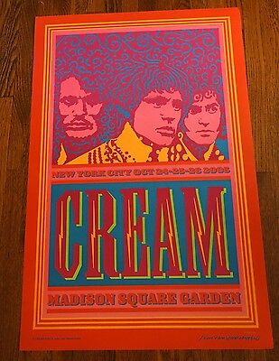Cream MSG NYC Poster October 2005 #2756/3000 Eric Clapton
