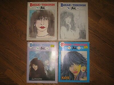 Kate Bush Break-Through Canadian Fanzine 1983 Vol. 1, 2, 4 & 5
