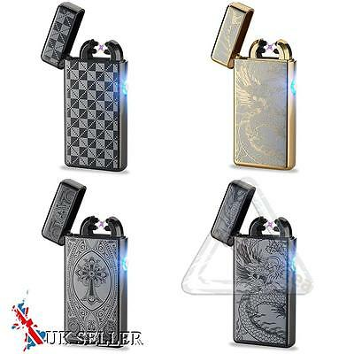 Électrique Double Arc Impulsion USB Briquet Plasma Recharge Sans flamme