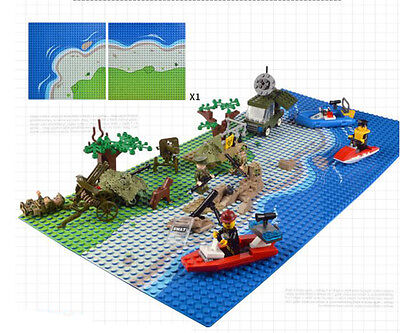 NEW 10x10 Brick Building Base Plate with Sandbeach Pattern Fit For LEGO 2 pieces